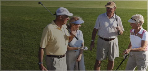 Picture of golfers