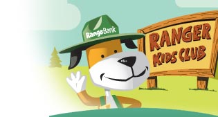 Picture of Ranger, the Range Bank mascot
