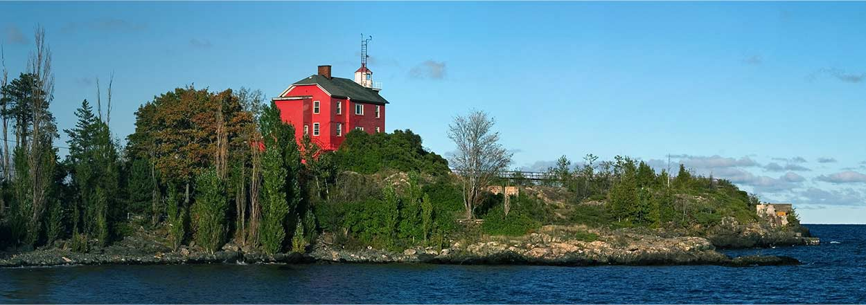 Picture of the Coast Guard Lighthouse in Marquette