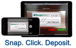 Mobile Deposit Snap. Click. Deposit. Photo