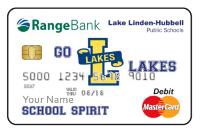 Lake Linden school spirit debit card image