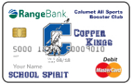 Calumet all sports booster club school spirit debit card image