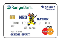 Negaunee miners school spirit debit card image